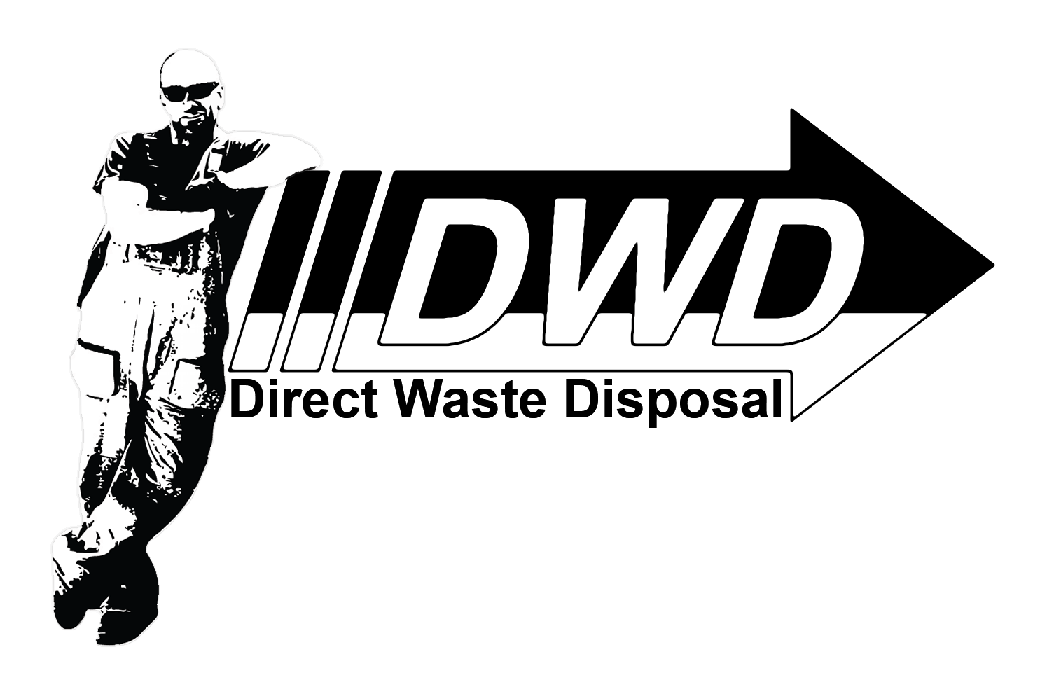 Direct Waste Disposal - Kevin Leaning on Logo